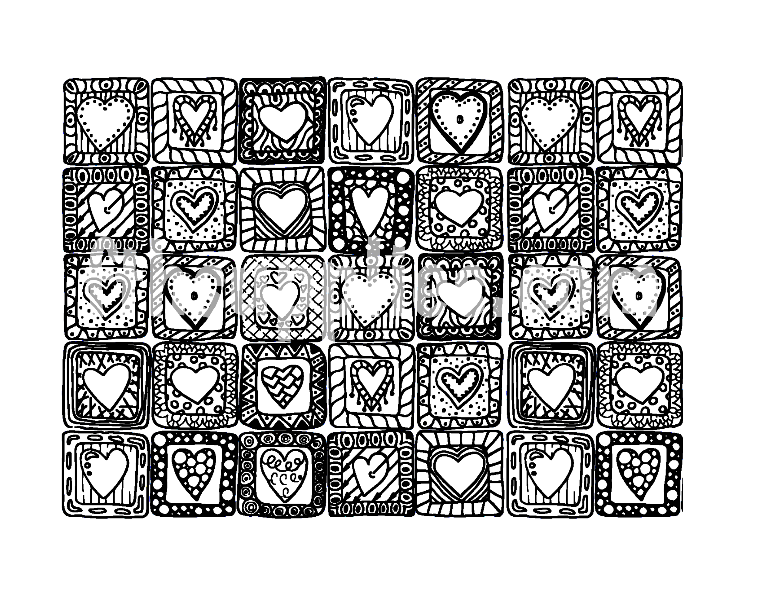 SS158 Quilted Hearts