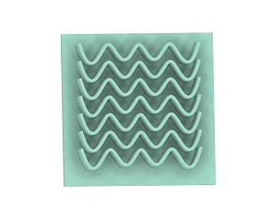 T002 Waves Texture Plate
