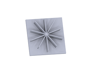 T004 Star Texture Plate